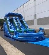Blue Paradise 18 Foot Dual Lane Water Slide