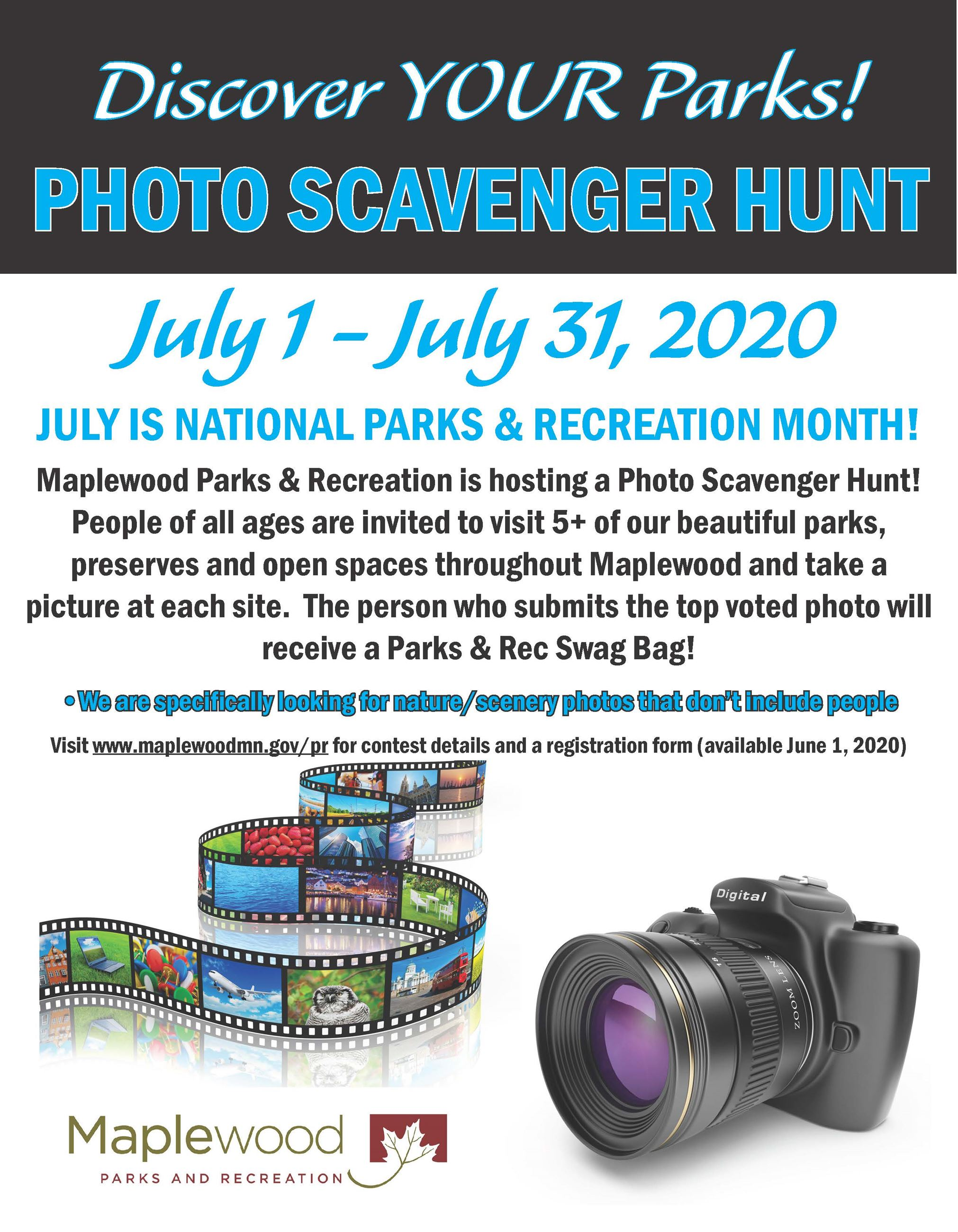photo scavenger hunt poster 2018
