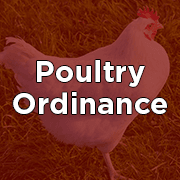 Poultry Ordinance