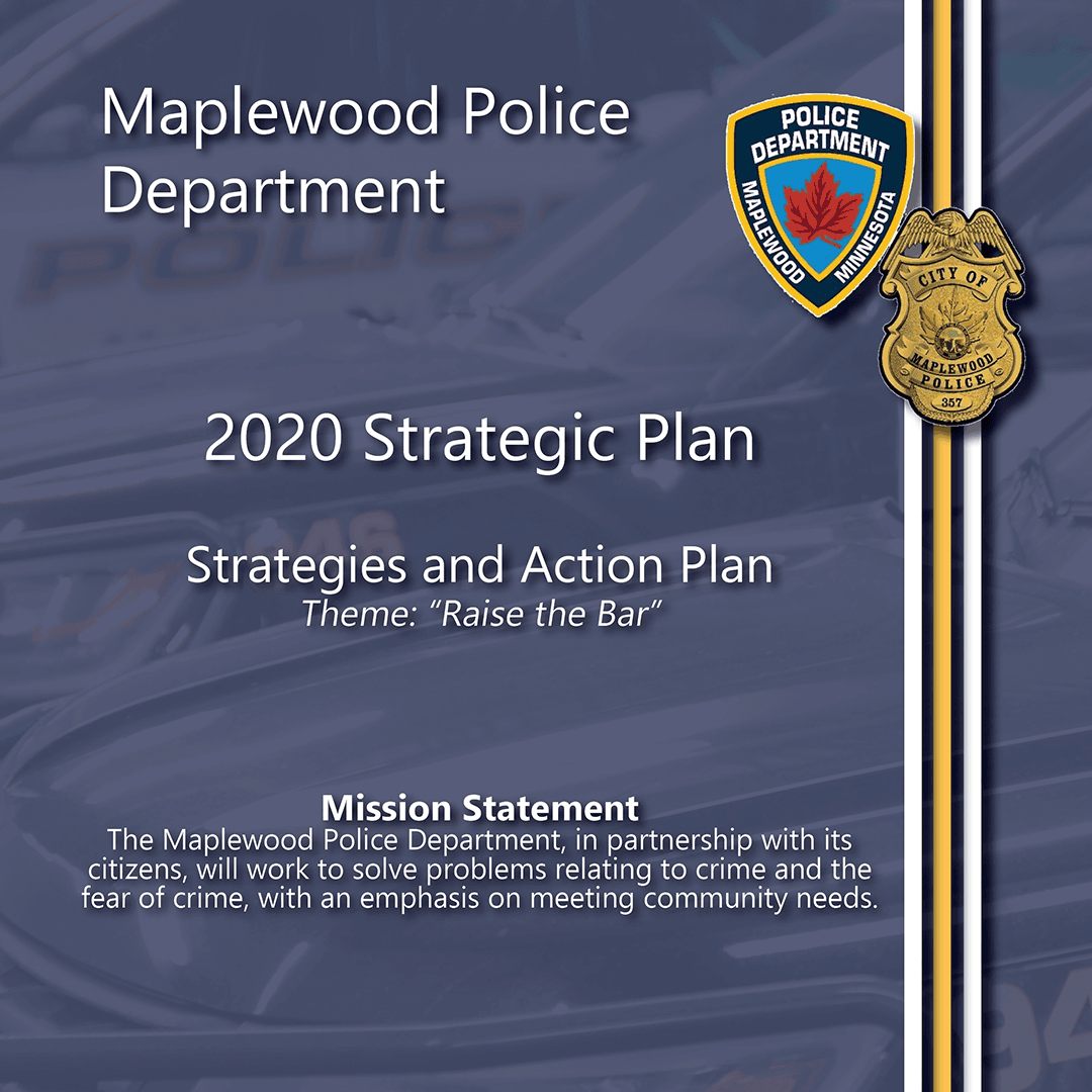 Blue page with MPD logo and color piping on right side