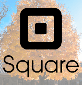 Maple Tree in the background of Square Logo